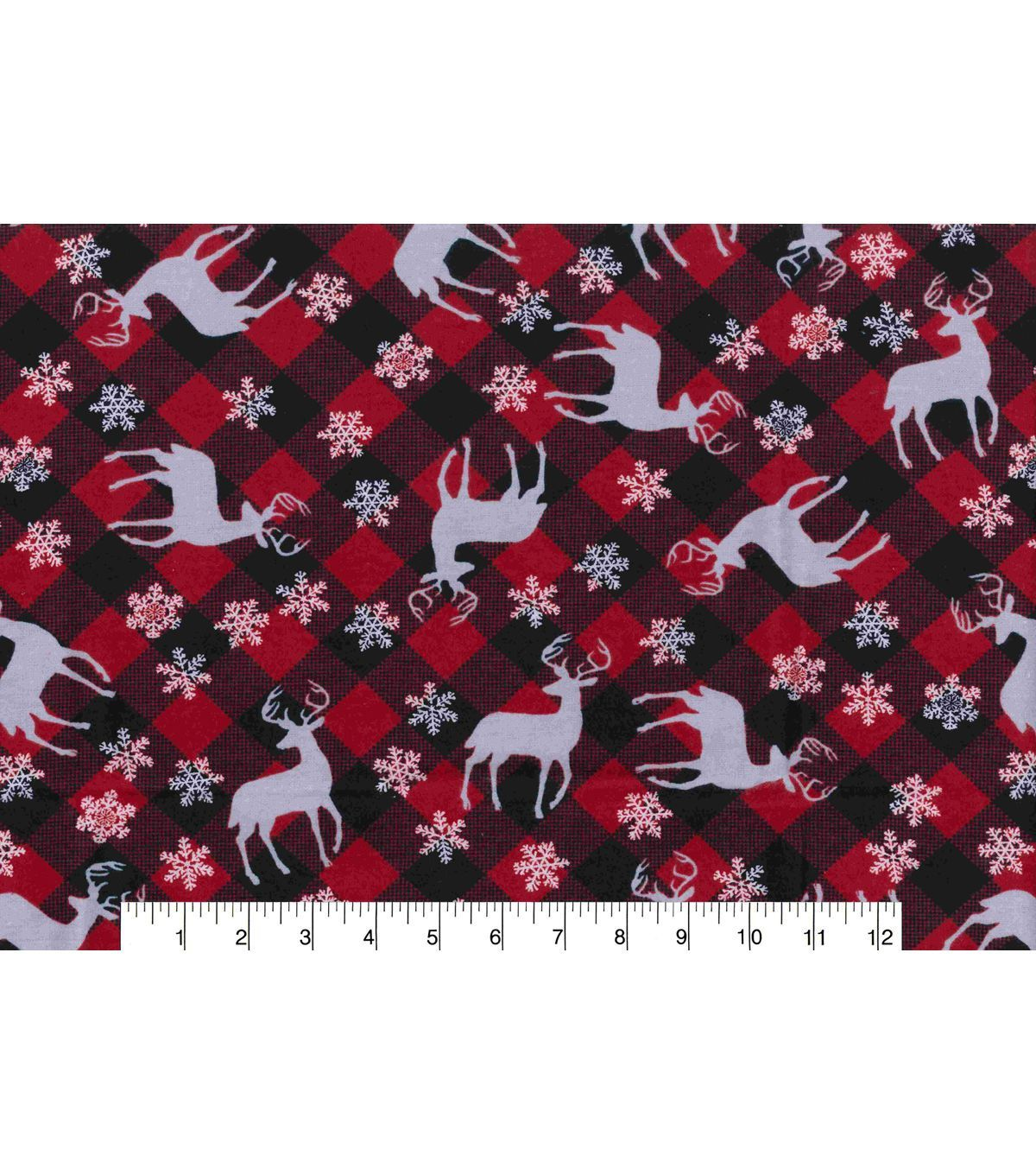 Red flannel fabric  Makerus Holiday Flannel Fabric