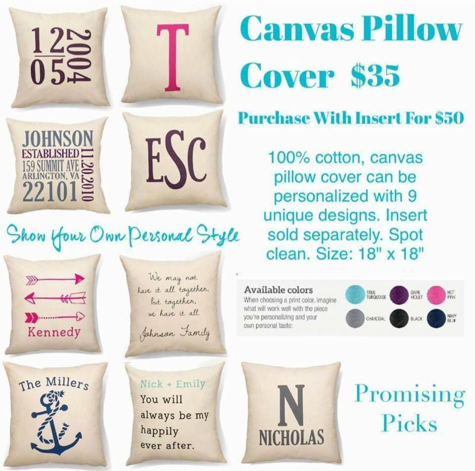 Ideas For Thirty One Pillows: Promising Picks Canvas Pillow Cover   Thirty One Spring Summer    ,