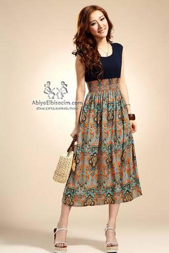Bayan Elbise Sifon Elbise Uzun Elbise Yazlik Elbise Abiye Elbise 2014 Elbise Modelleri Vintage Elbise Modeli Yazlik Kiyafetler Kadin Elbiseleri Vintage Elbise
