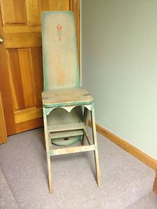Chair Step Stool Ironing Board White Spandex Covers Ebay Vintage King Specialties Co 3 In 1