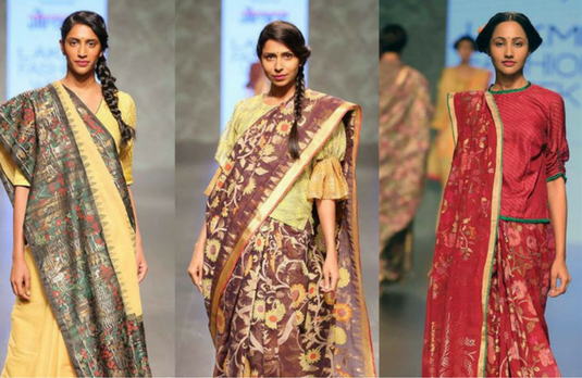 397be0de1c4 In case you thought that it is only the elite connoisseurs of the saree who  would experiment with blouses like these to go with their designer sarees