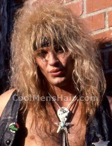 Big Hair Guys Bret Michaels Long Hairstyles With Headband Cool Men S Hair Long Hair Styles Hair Styles Big Hair
