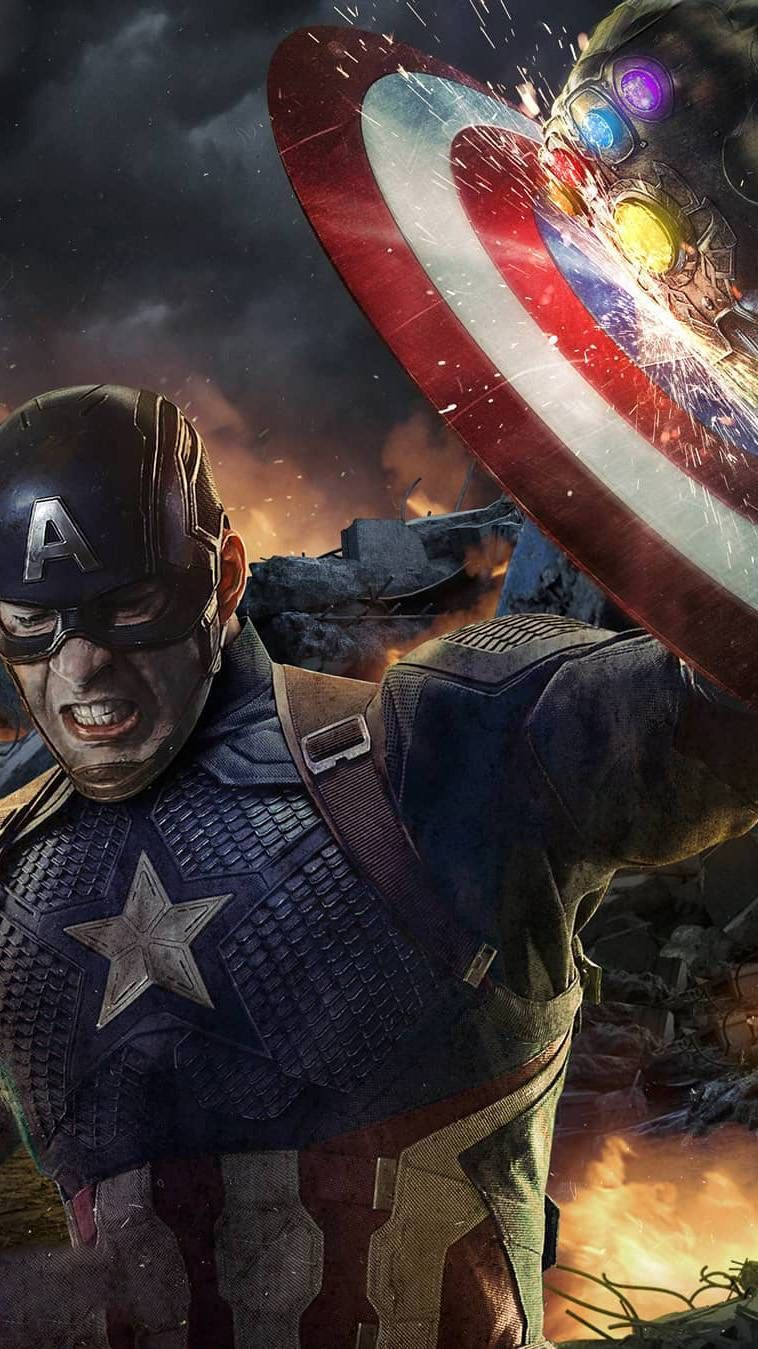 Captain Shield Vs Thanos Iphone Wallpaper Captain America Shield Wallpaper Captain America Wallpaper Captain America