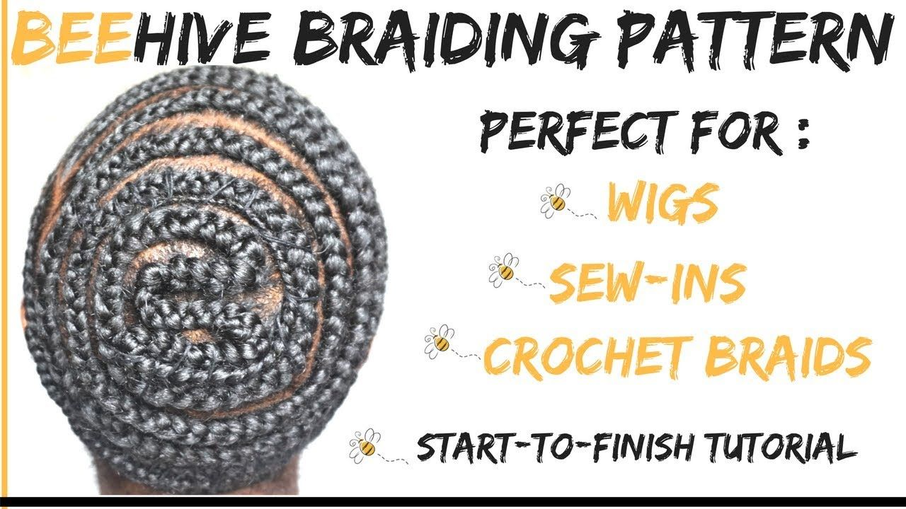 How To: Beehive Braid Pattern With Side Part | No Leave Out ...