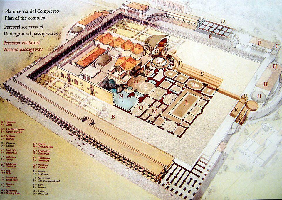 Map Thermae Caracalla | antica romana architetura | Pinterest Baths Of Caracalla Reconstruction