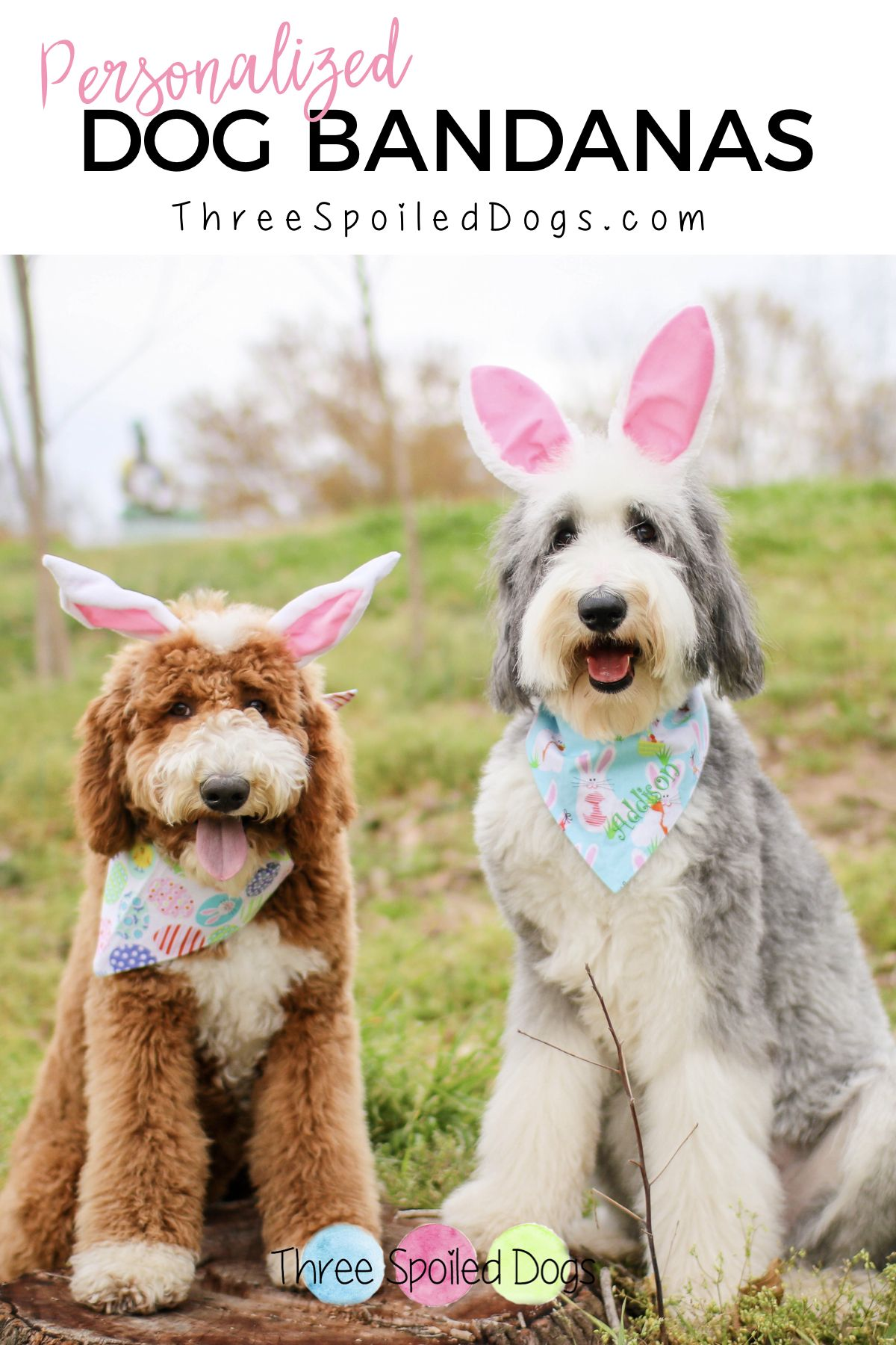 Personalized Easter Dog Bandanas Personalized dog beds