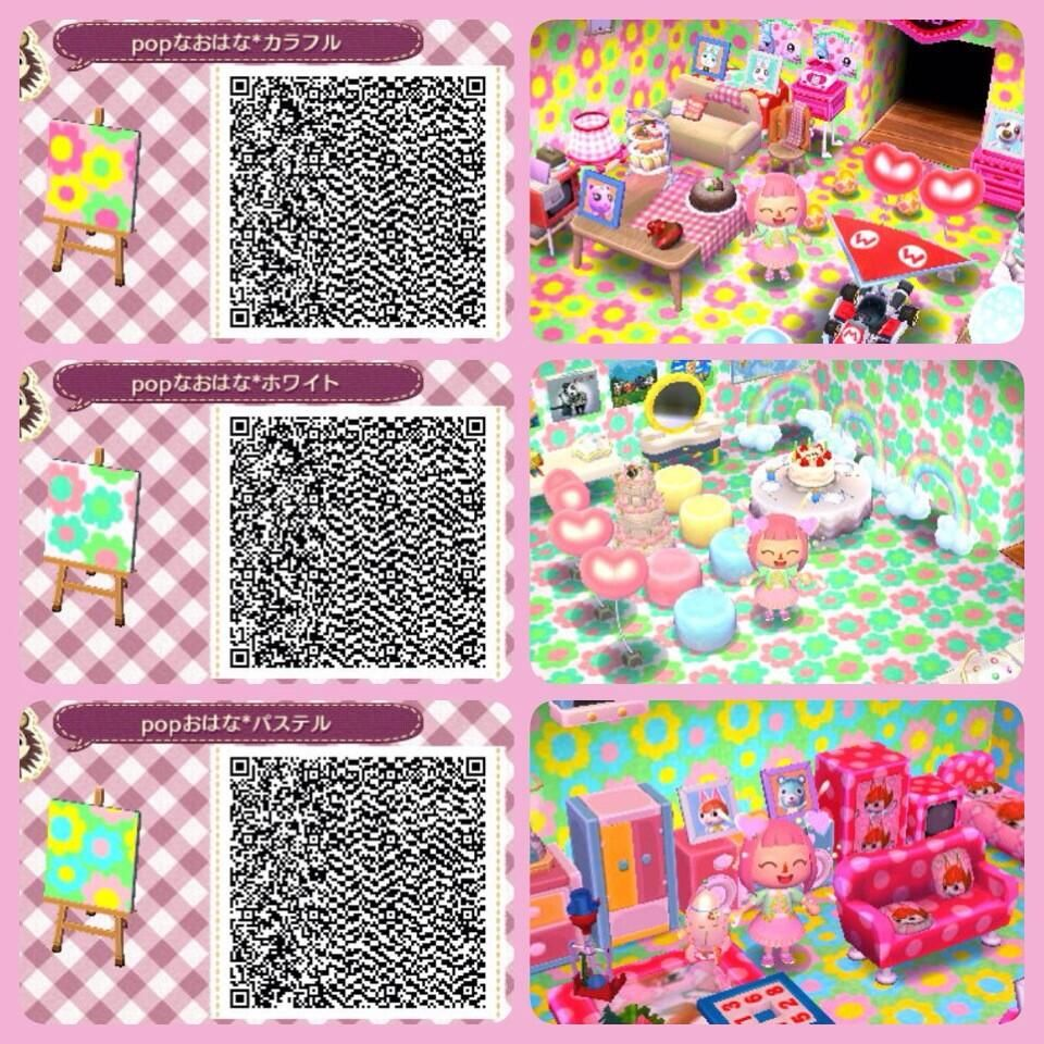 Cute floral qr codes animal crossing new leaf animal Boden qr codes animal crossing new leaf