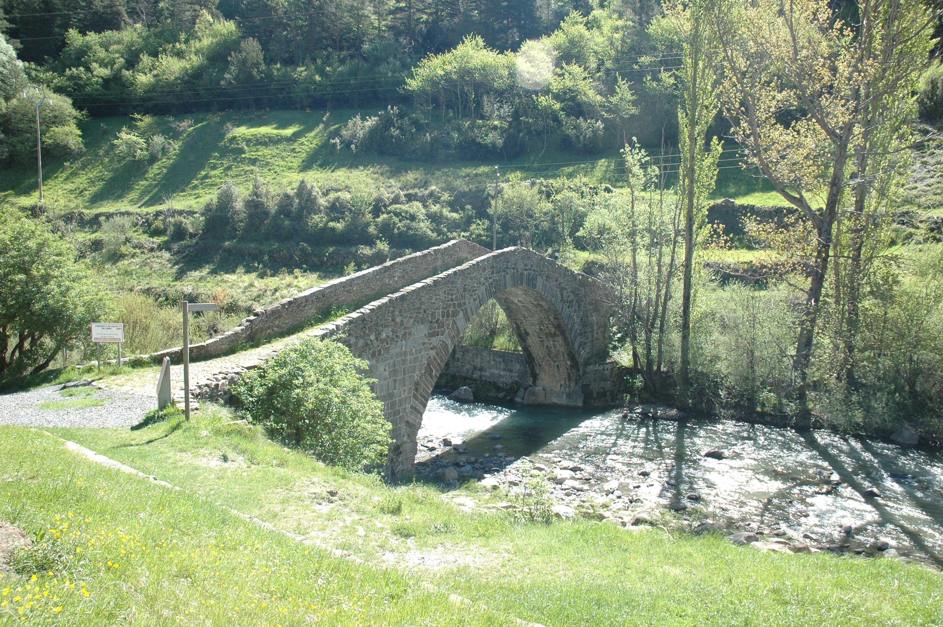 Puente De Los Peregrinos Canfranc Huesca España Peregrino Peregrinaje Puentes