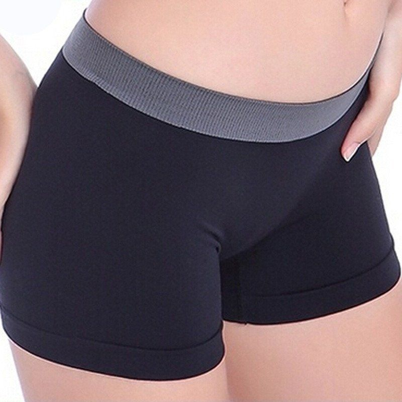 922cb8f98e27 Women Panties Safety Short Pants Low Waist Body Shape Underwear Breathable  Summer Boxers Seamless Sexy Boyshort Pants For Female