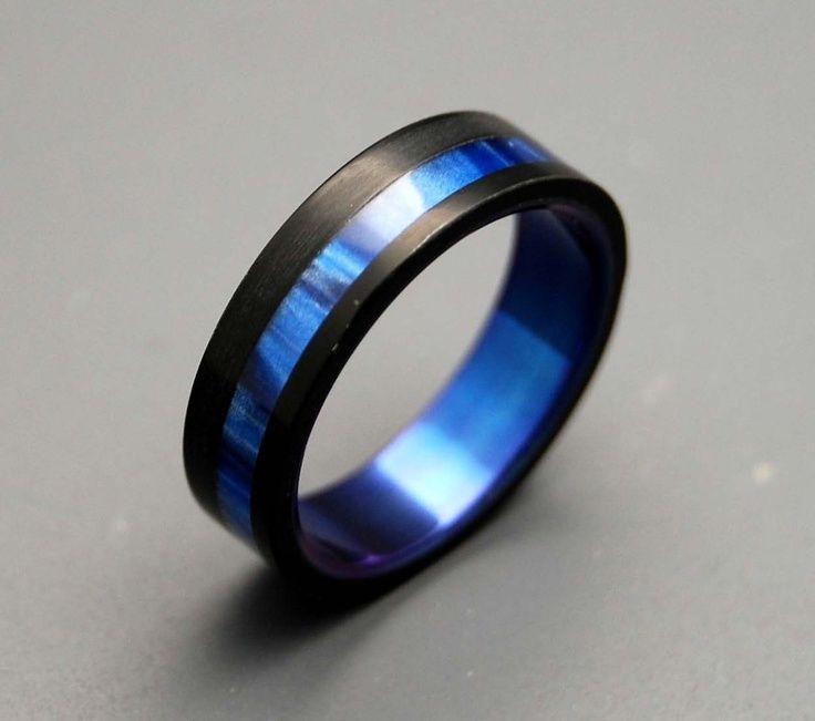 Engagement Unique Blue Men S Wedding Ring