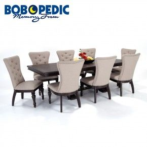 Riverdale 9 Piece Dining Set With Upholstered Chairs  First House Alluring 9 Pc Dining Room Sets Design Inspiration