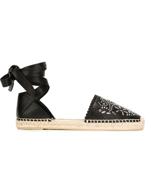 0cf191e473e Shop Saint Laurent floral studded espadrilles in Cuccuini from the world's  best independent boutiques at farfetch.com. Shop 400 boutiques at one  address.