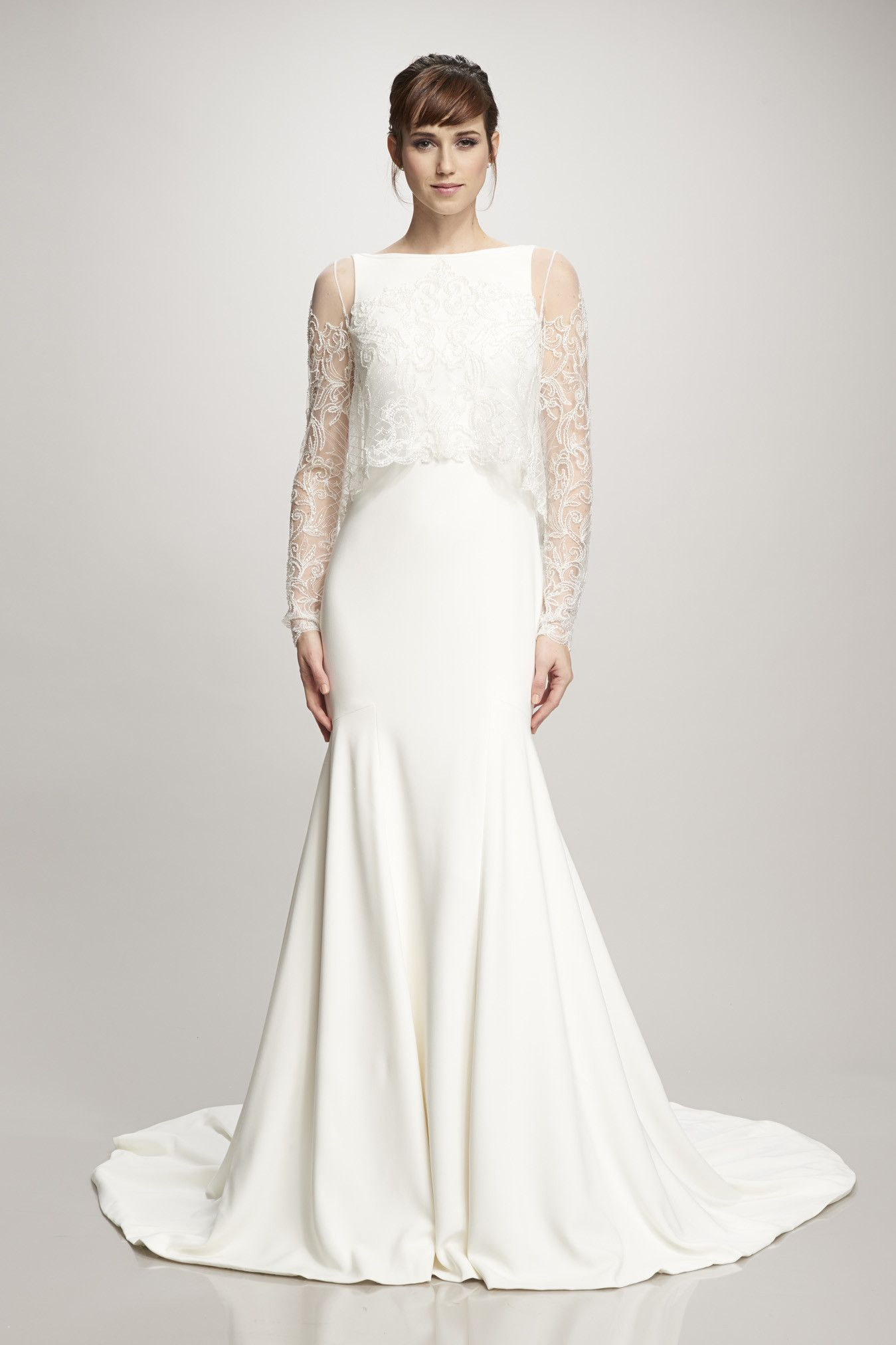 696abdc45af3 Theia AMBER topper + DEVON gown – Ellie's Bridal Boutique (Alexandria, VA)