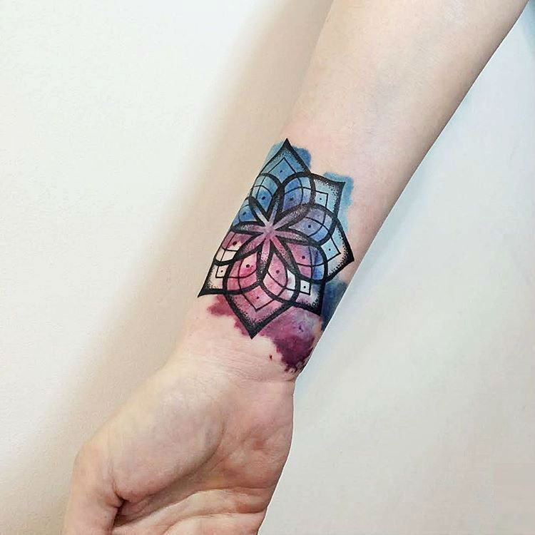 Mandala Wrist Tattoo Designs Ideas And Meaning: 50 Of The Most Beautiful Mandala Tattoo Designs For Your