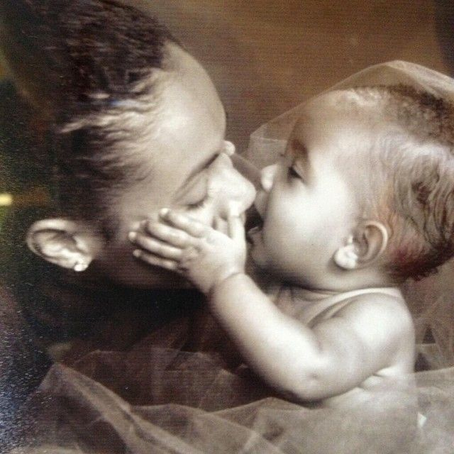 """via Jada Pinkett Smith """"...This is a picture of Willow and I that I keep in my living room. It reminds me of the power we have to create love..."""""""