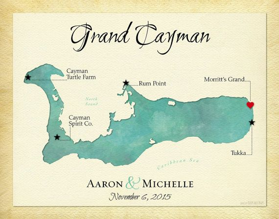 graphic relating to Printable Map of Grand Cayman identify Grand Cayman Map Print, Exceptional Anniversary Present
