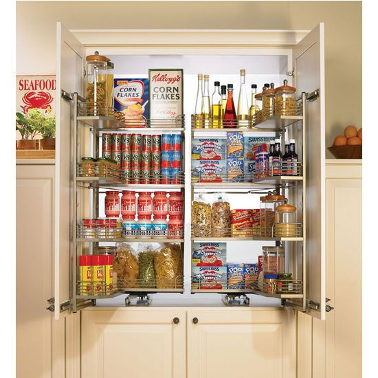 Hafele Tandem Kitchen Chefu0027s Pantry Is Available In Champagne Or Silver.  These Durable Pantries Are Available With Baskets And Trays Of Various  Sizes.