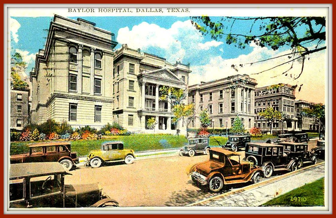 An old postcard baylor hospital in dallas texas old