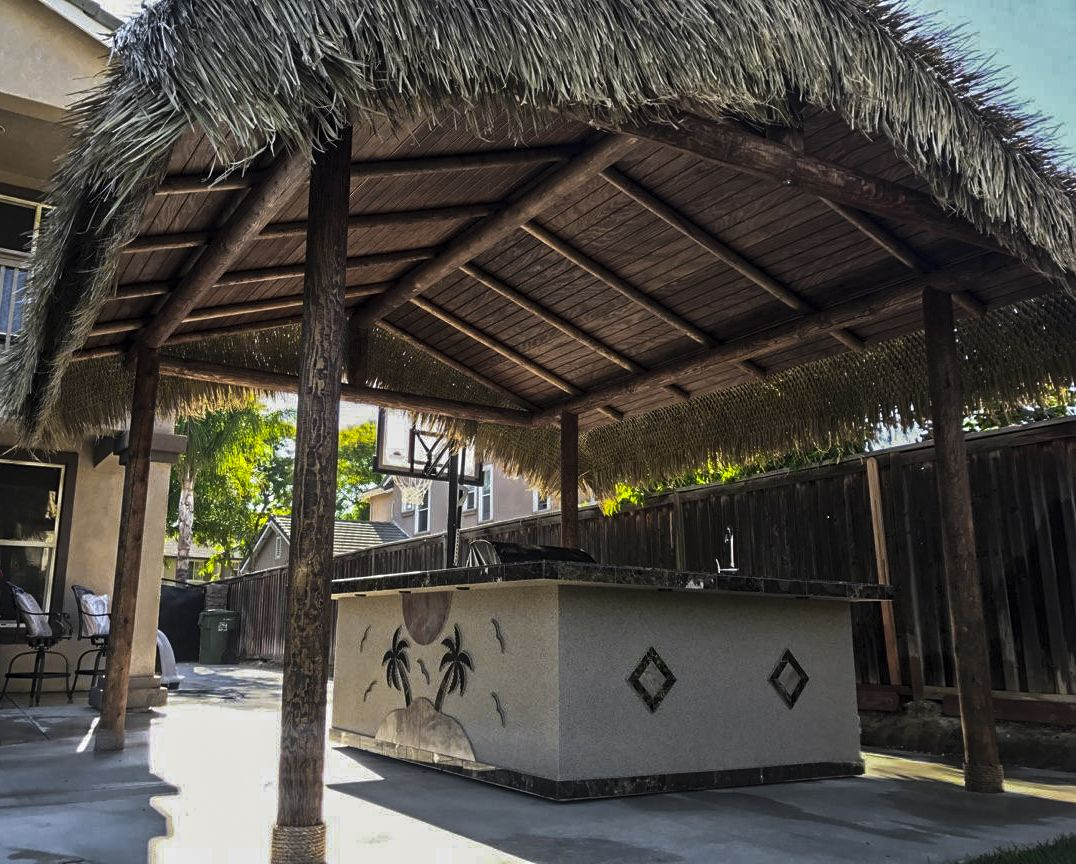 Another Custom Outdoor Kitchen With Solid Roof Palapa Built By Extreme  Backyard Designs. Always Striving