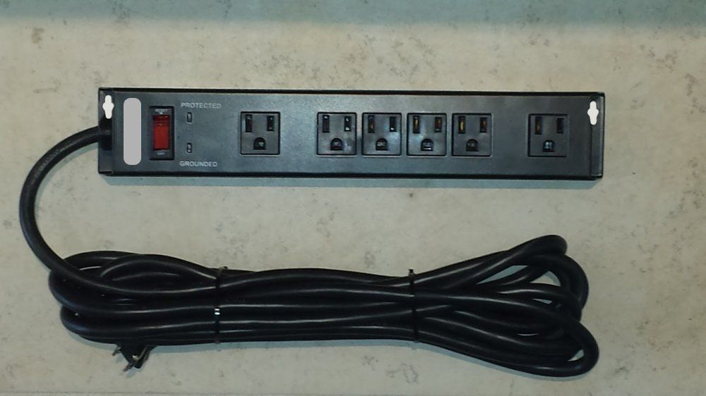 Tired of all the cable Clutter, Here is the Solution Wall Mount Power Strip  and Surge Protector, - Alersense - Tired Of All The Cable Clutter, Here Is The Solution
