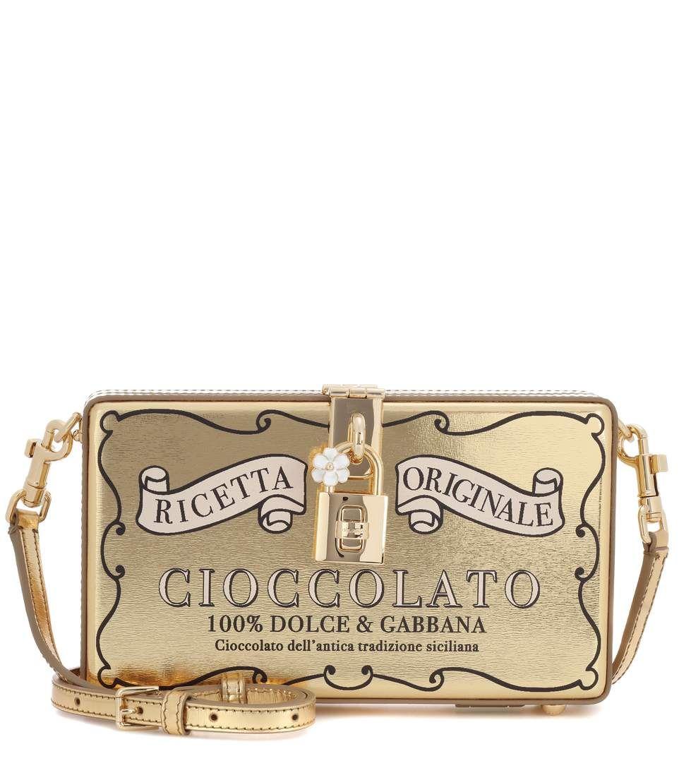 cab43db7b3 DOLCE   GABBANA Dolce Box Embellished Leather Bag.  dolcegabbana  bags  shoulder  bags  leather  lining
