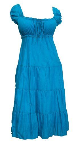 8201ff68d73c9 This plus size sun dress features a flattering scoop neck. Women s clothing  features an empire waist with center string ribbon detail. Slightly p .