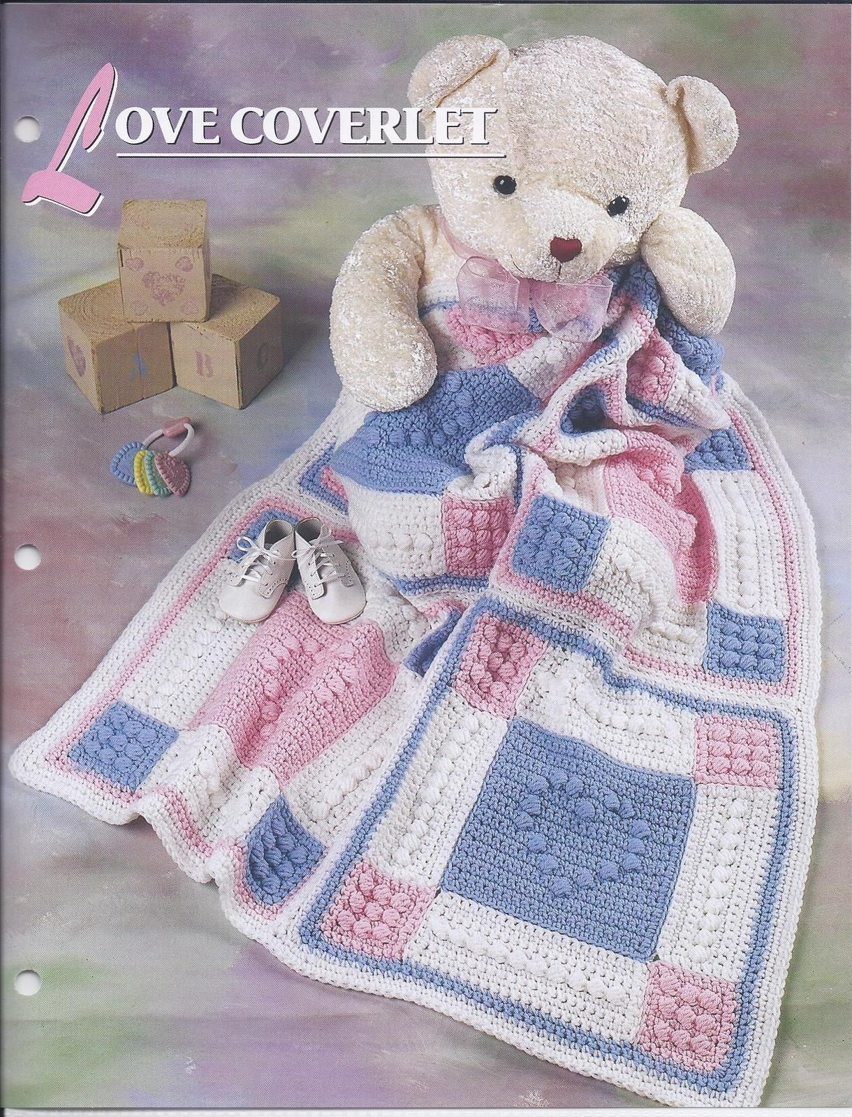 Love Coverlet Afghan Crochet Pattern~Annie\'s Quilt & Afghan Club