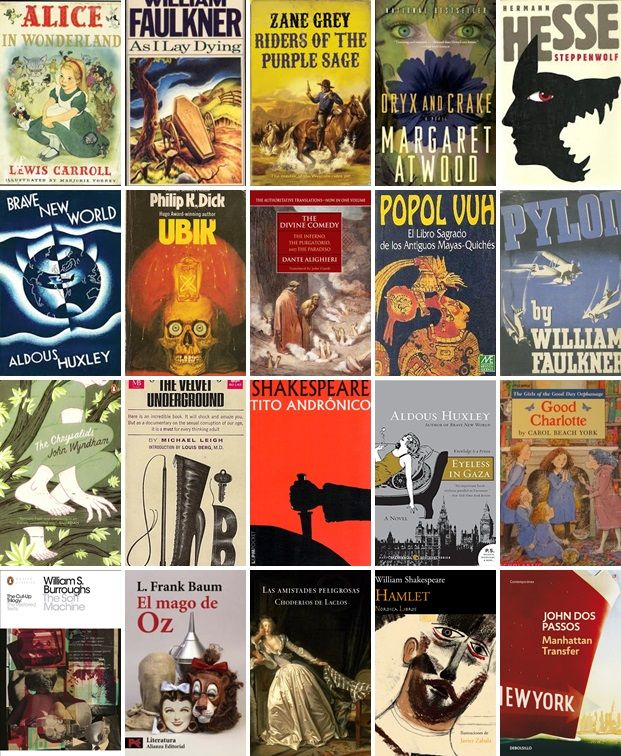 Book Cover Portadas Libros ~ Bandas con nombre de libro collage las portadas