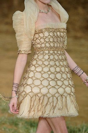 Silk tulle dress by Chanel