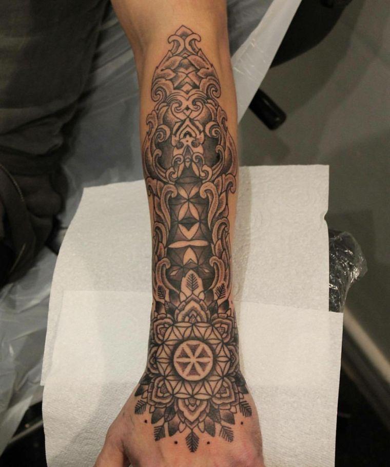 un diseño completo de tatueje en el antebrazo Tatuajes Pinterest