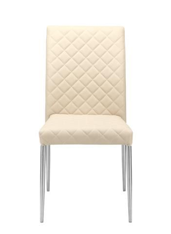 Cali Dining Chair Cream White Set Of 2 60 Polyurethane 10 Cotton 30 Polyester Brushed St Dining Chairs For Sale Dining Chairs Contemporary Dining Chairs