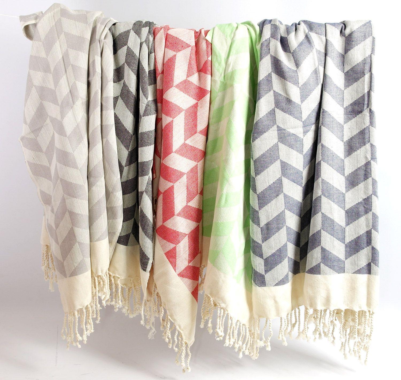 Chevron Knitted Bath And Beach Pestemal Towel Turkish Towels