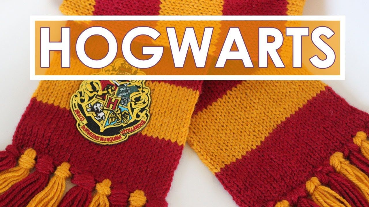 How to Knit a SCARF   Harry Potter Hogwarts Gryffindor ...