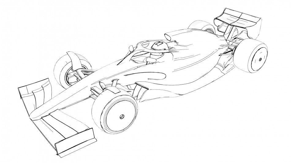 Download Formula 1 Car Coloring Page Motor