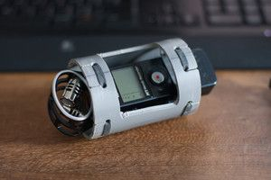 Homemade Zoom H1 Mic Shockmount Samsung Gear Watch Personalized
