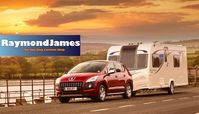 Beige Boxs of Bland, contemporary touring caravans. (With ...