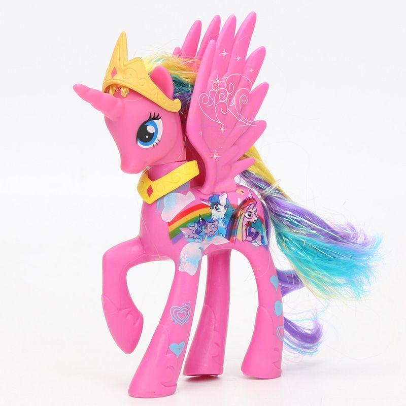 2018 14cm My Little Pony Toys Pony Princess Celestia Luna Rainbow
