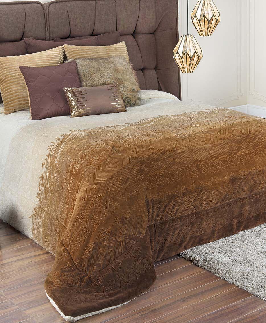 Detalle producto cobertor con borrega luxus esquimal for Cobertor cama