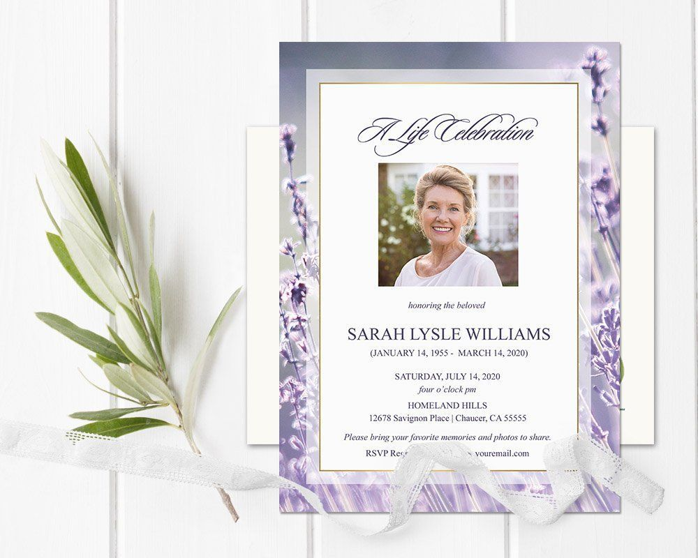 The Captivating Celebration Of Life Invitations Funeral Announcement Intended For Funeral Invitation Card Te Funeral Invitation Celebration Of Life Invitations