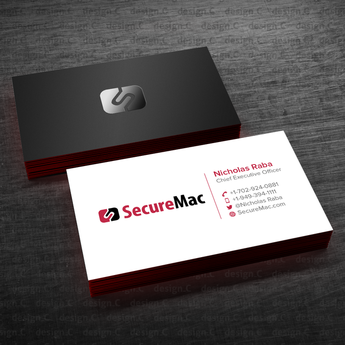 Business Card Design For Tech Company By Design C Company Business Cards Business Card Design Card Design
