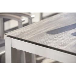 Photo of Stern Tischgestell 90x90cm Aluminium Vierkantrohr Graphit Stern