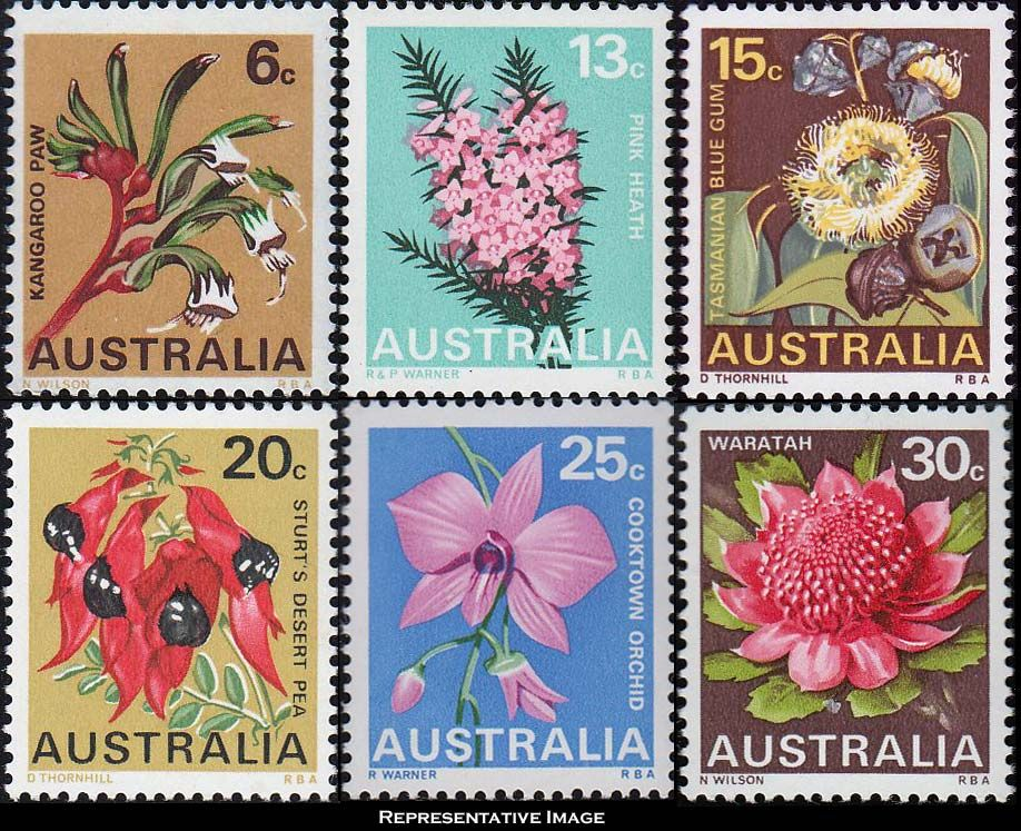 Australian Fl Stamps 918 747 The Bit Of Text Off Bottom