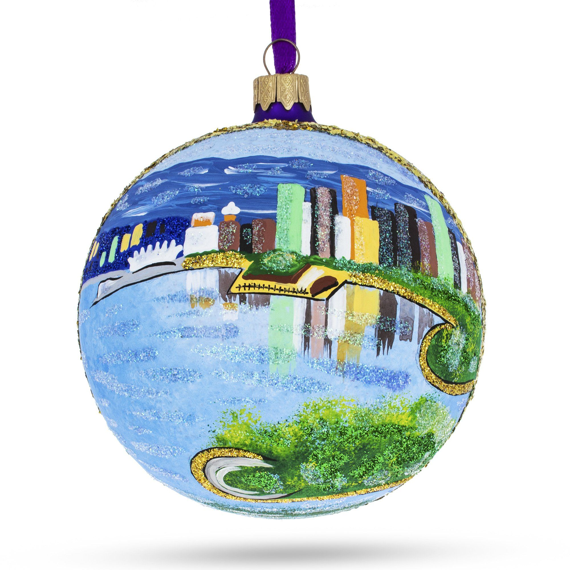 Vancouver Canada Stanley Park Glass Ball Christmas Ornament 4 Inches Glass Ball Christmas Ornaments Glass Christmas Ornaments