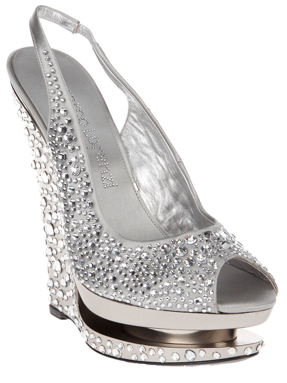 gianmarco lorenzi collector crystal wedge shoe shoes shoes rh pinterest com