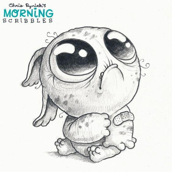 Scribble Monster Drawing : Chris ryniak morning scribbles musik tattoo dessin