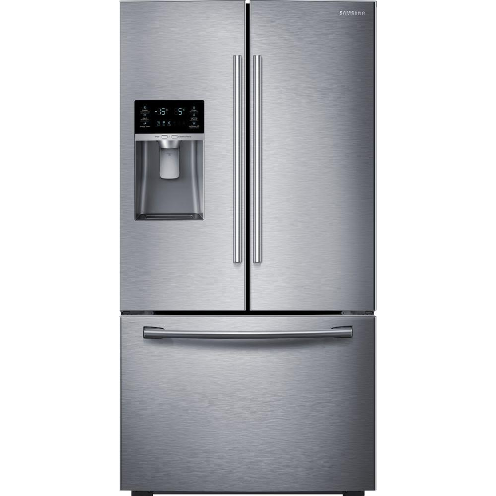 Samsung 28 07 Cu Ft French Door Refrigerator In Stainless Steel