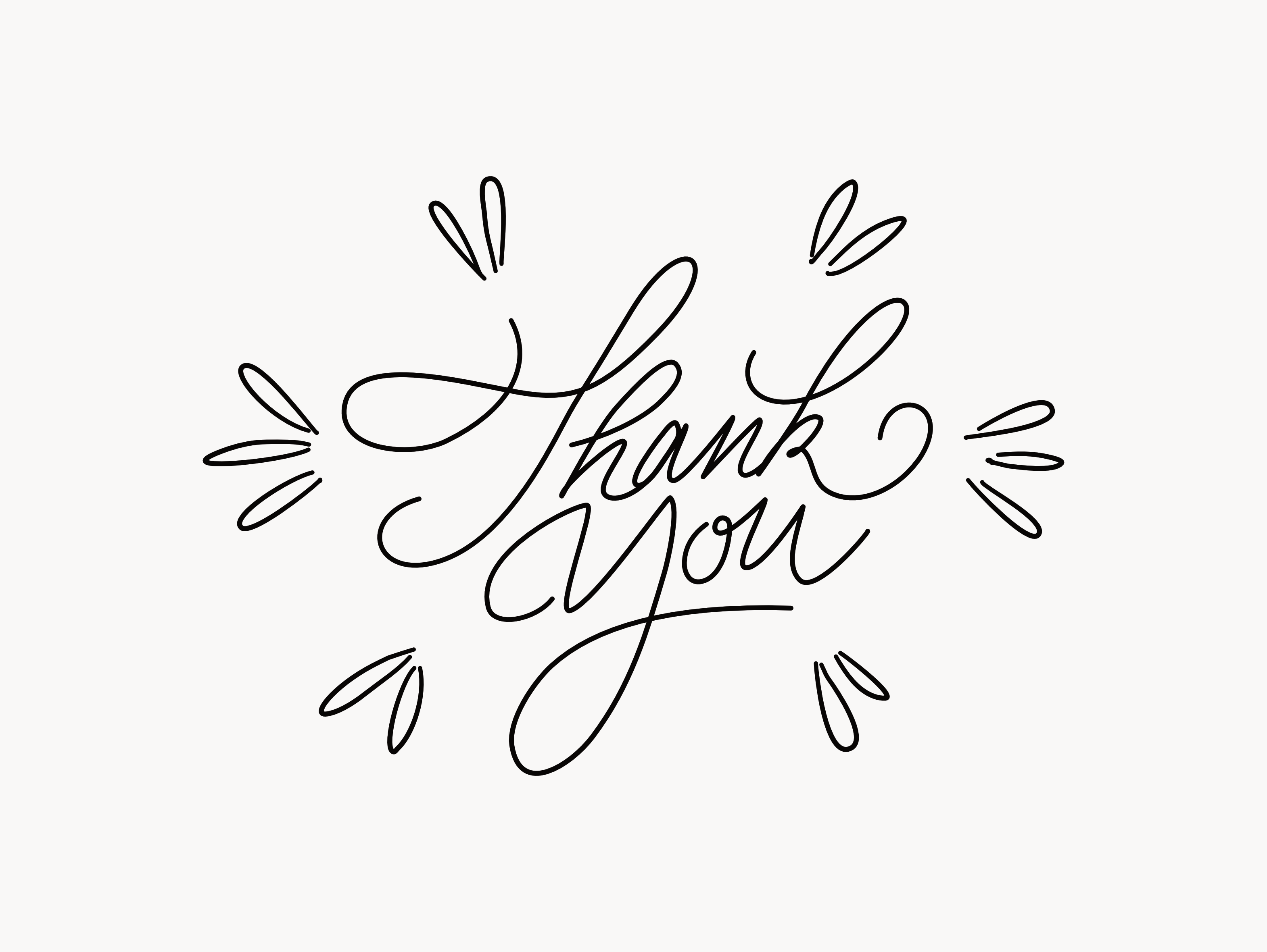 Thank You For A Great Year Hand Lettering Cards Calligraphy Thank You Thank You Typography