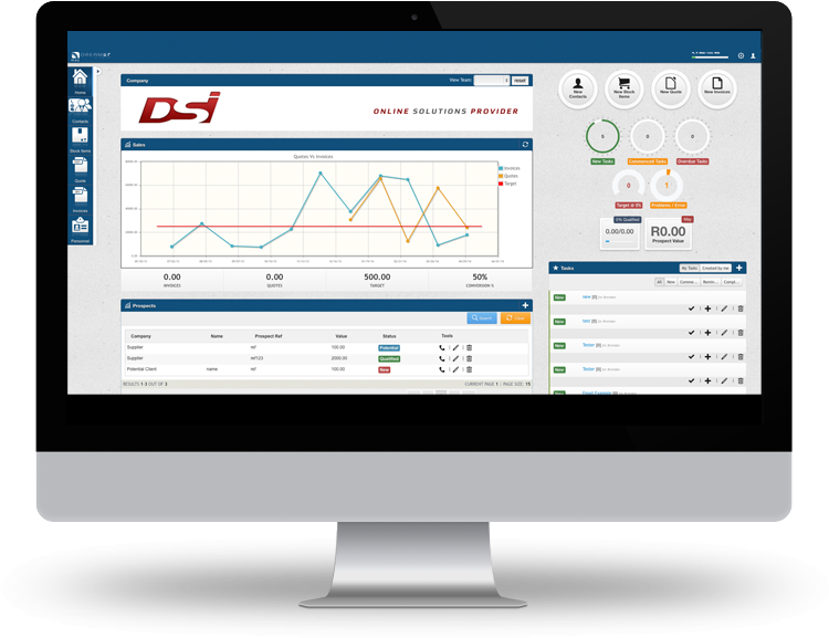 Standard dashboard for our white label cloud based solution - DreamER Being a white label solution - we built or add custom Modules to target and provide solution within companies and industries. Its your business online