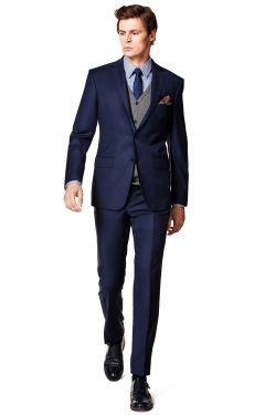 Granatowy Garnitur Memphis Basic Lantier Lr6562 Mens Suits Style Fashion