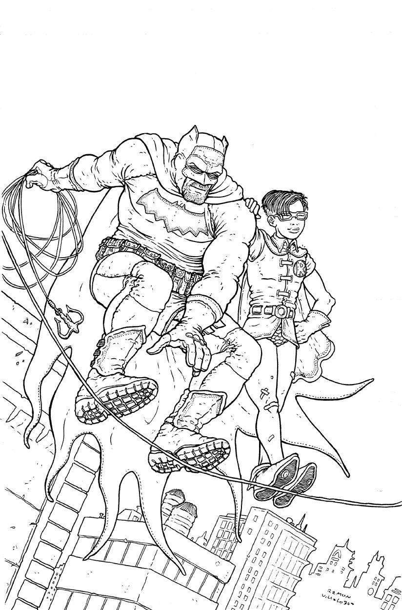 The Dark Knight Returns By Ramon Villalobos Dark Knight Returns Batman And Superman Comic Artist